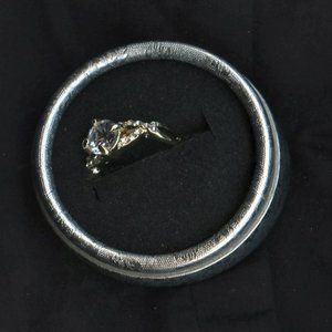 Ring Engagement/Valentine, Sapphire Solitaire
